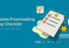 Complete Proofreading and Editing Checklist to Publish Amazing Copy