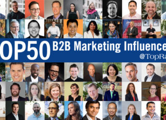 50 Top B2B Marketing Influencers, Experts and Speakers To Follow In 2022 Collage Image