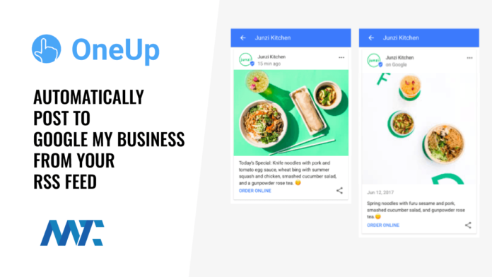OneUp: Syndicate to Google My Business With Your RSS feed